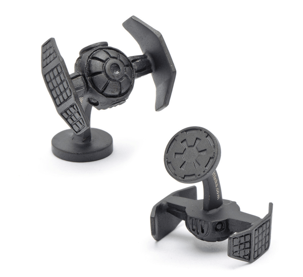 Darth Vader Matte Black Tie Starfighter Cufflinks BY STAR WARS - MarkandMetal.com