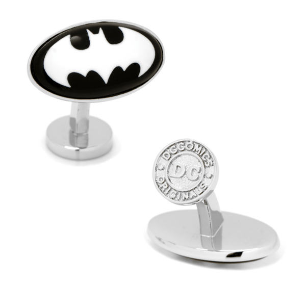 Batman Etched Onyx Cufflinks BY DC COMICS - Groomsmen Groom Wedding Gift For Him