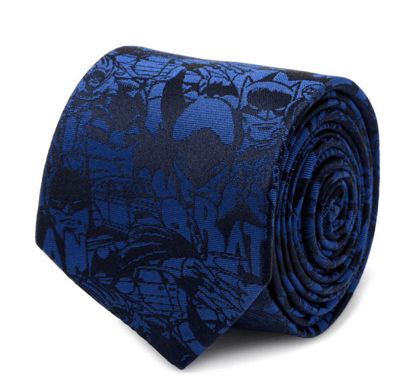 Batman Blue Comic Tie BY DC COMICS - MarkandMetal.com
