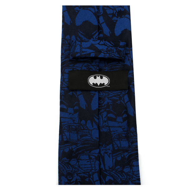Batman Blue Comic Tie BY DC COMICS - Groomsmen Groom Wedding Gift For Him