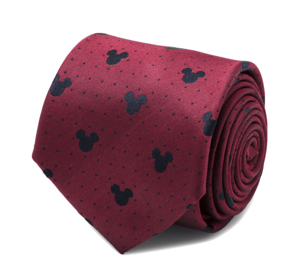 Mickey Mouse Red Pin Dot Men's Tie BY DISNEY - MarkandMetal.com