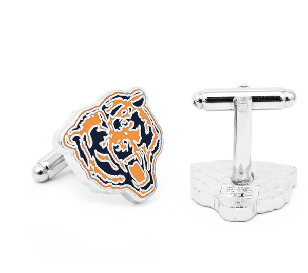 Vintage Chicago Bears Football Cufflinks BY NFL - MarkandMetal.com