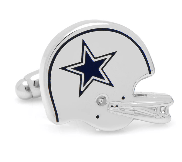 Dallas Cowboys Retro Helmet Football Cufflinks BY NFL - MarkandMetal.com