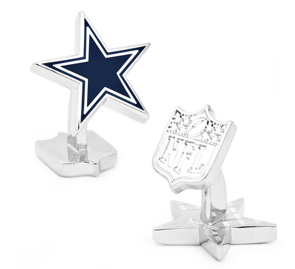 Dallas Cowboys Palladium Edition Football Cufflinks BY NFL - Groomsmen Groom Wedding Gift For Him