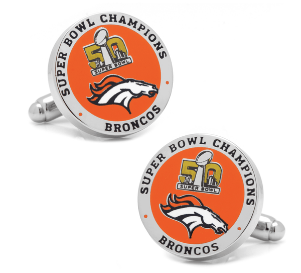Denver Broncos 2016 Super Bowl Football Champions Cufflinks BY NFL - Groomsmen Groom Wedding Gift For Him