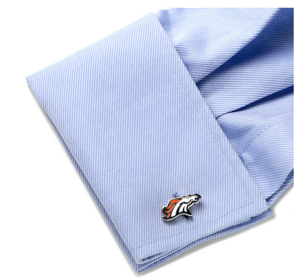 Denver Broncos Cufflinks BY NFL - Groomsmen Groom Wedding Gift For Him