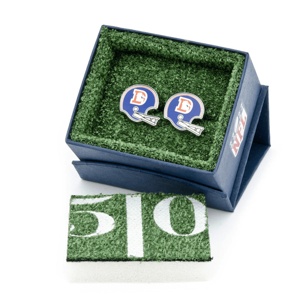 Denver Broncos Retro Helmet Football Cufflinks - Groomsmen Groom Wedding Gift For Him