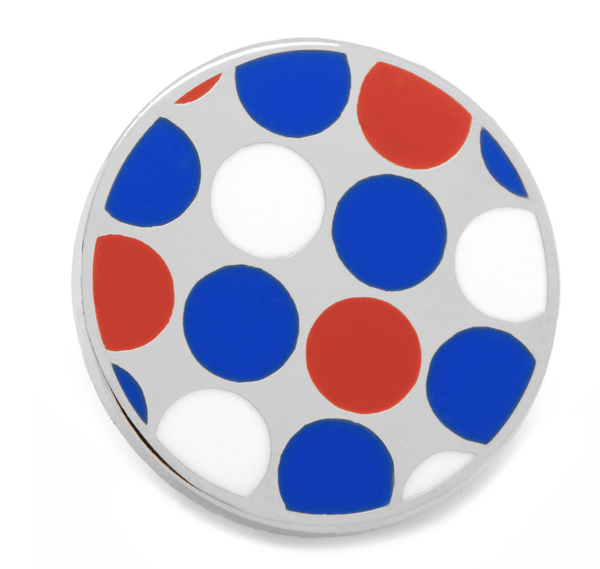 Blue Polka Dot Lapel Pin - Men's Accessories and gifts for him