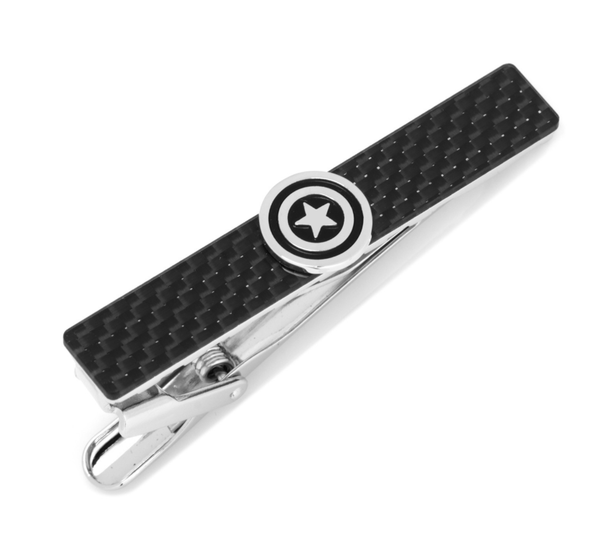Captain America Carbon Fiber Tie Clip BY MARVEL - MarkandMetal.com