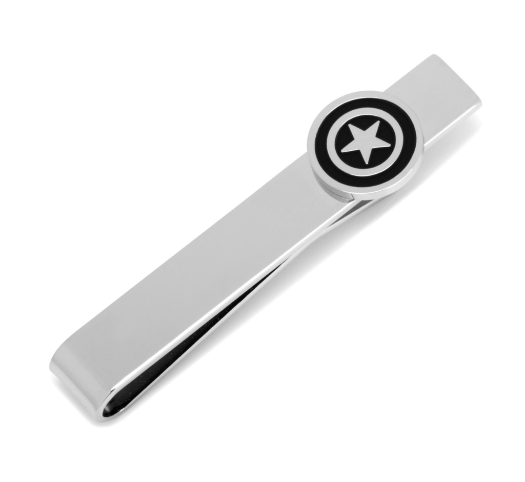 Captain America Silver Tie Bar BY MARVEL - Men's Accessories and gifts for him