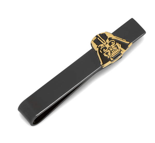 Black and Gold Darth Vader Tie Bar BY STAR WARS - Groomsmen Groom Wedding Gift For Him