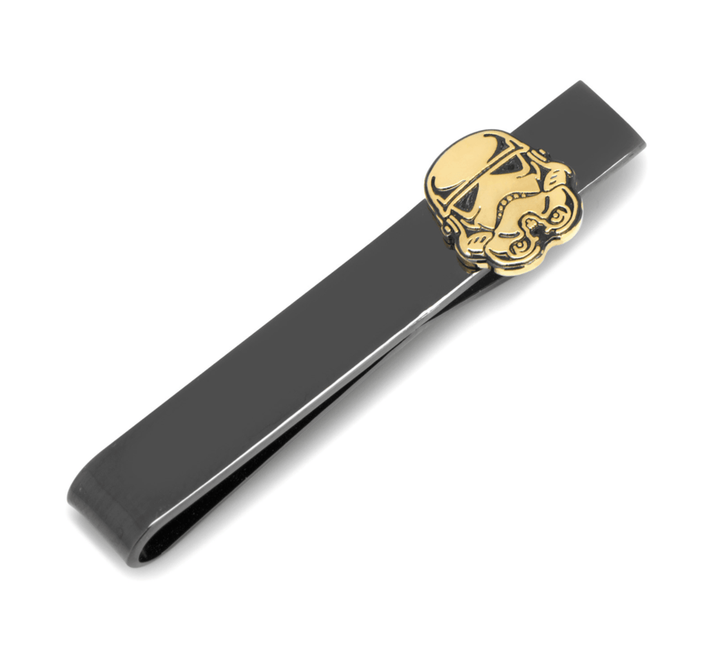 Black and Gold Stormtrooper Tie Bar BY STAR WARS - Groomsmen Groom Wedding Gift For Him
