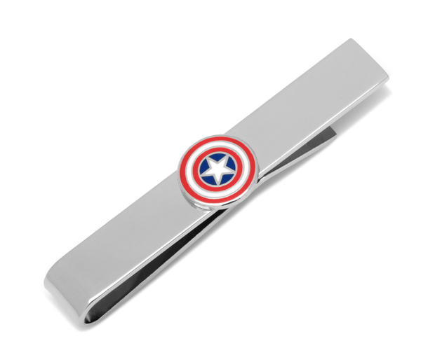 Captain America Icon Tie Bar BY MARVEL - Groomsmen Groom Wedding Gift For Him