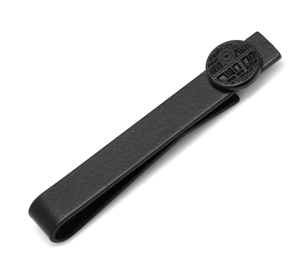 Death Star Satin Black Tie Bar BY STAR WARS - MarkandMetal.com