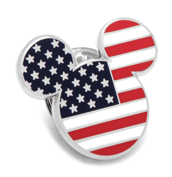 American Flag Mickey Mouse Lapel Pin BY DISNEY - MarkandMetal.com