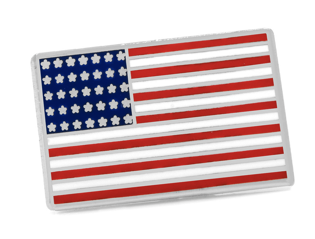 American Flag Lapel Pin - Groomsmen Groom Wedding Gift For Him