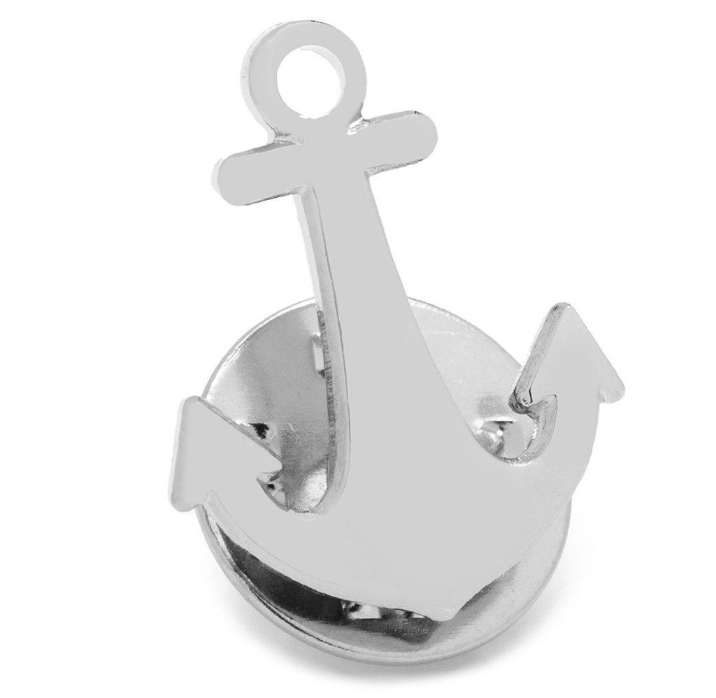Anchor Lapel Pin - Groomsmen Groom Wedding Gift For Him