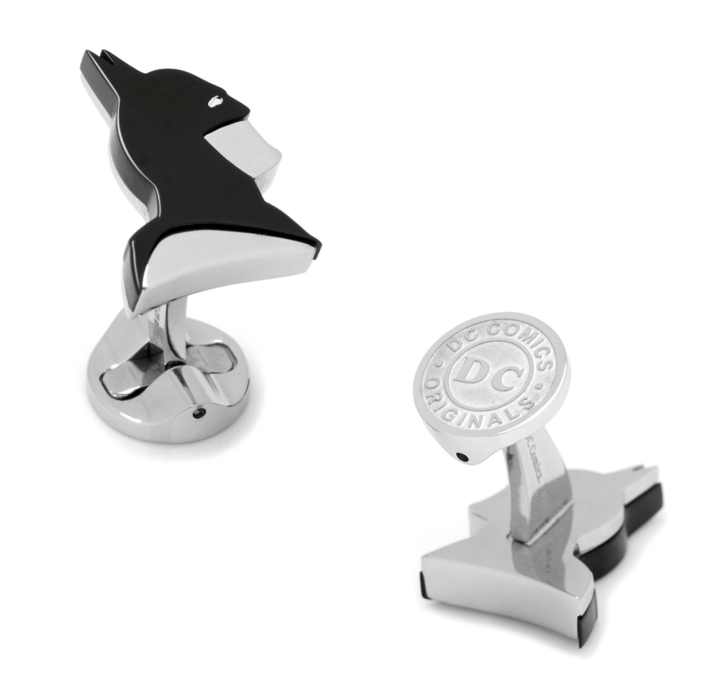 Stainless Steel Batman Profile Cufflinks BY DC COMICS - MarkandMetal.com