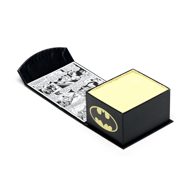 Batman Silver Logo Cufflinks BY DC COMICS - MarkandMetal.com