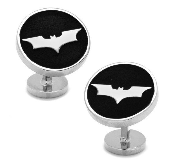 Batman Recessed Black Dark Knight Cufflinks - MarkandMetal.com