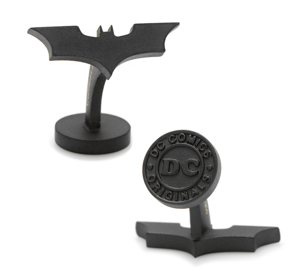 Batman Satin Black Dark Knight Cufflinks BY DC COMICS - MarkandMetal.com