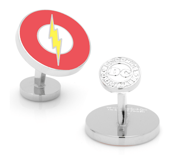 Flash Logo Cufflinks BY DC COMICS - MarkandMetal.com
