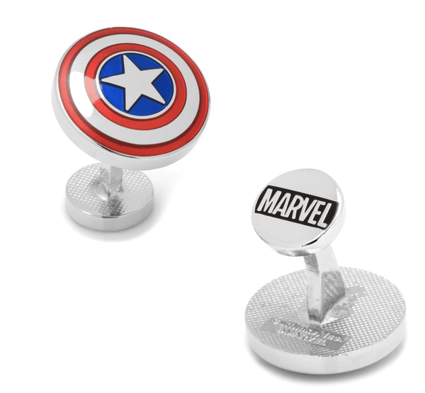 Avengers Captain America Shield Cufflinks BY MARVEL - MarkandMetal.com