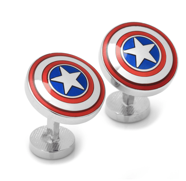 Avengers Captain America Shield Cufflinks BY MARVEL - Groomsmen Groom Wedding Gift For Him