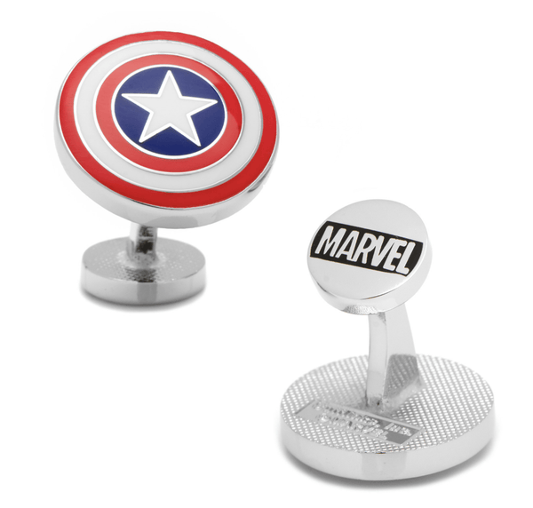 Captain America Shield Cufflinks BY MARVEL - Men's Accessories and gifts for him