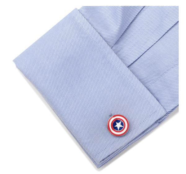 Captain America Shield Cufflinks BY MARVEL - Groomsmen Groom Wedding Gift For Him