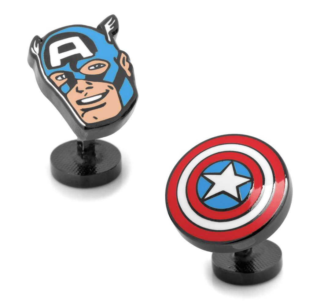 Captain America Comics Pair Cufflinks BY MARVEL - MarkandMetal.com