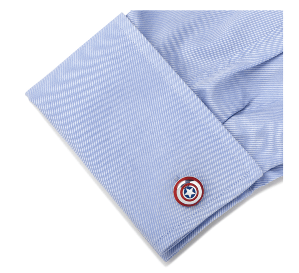 Captain America Shield 3D Cufflinks BY MARVEL - MarkandMetal.com