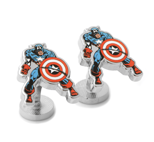 Captain America Action Cufflinks BY MARVEL - MarkandMetal.com