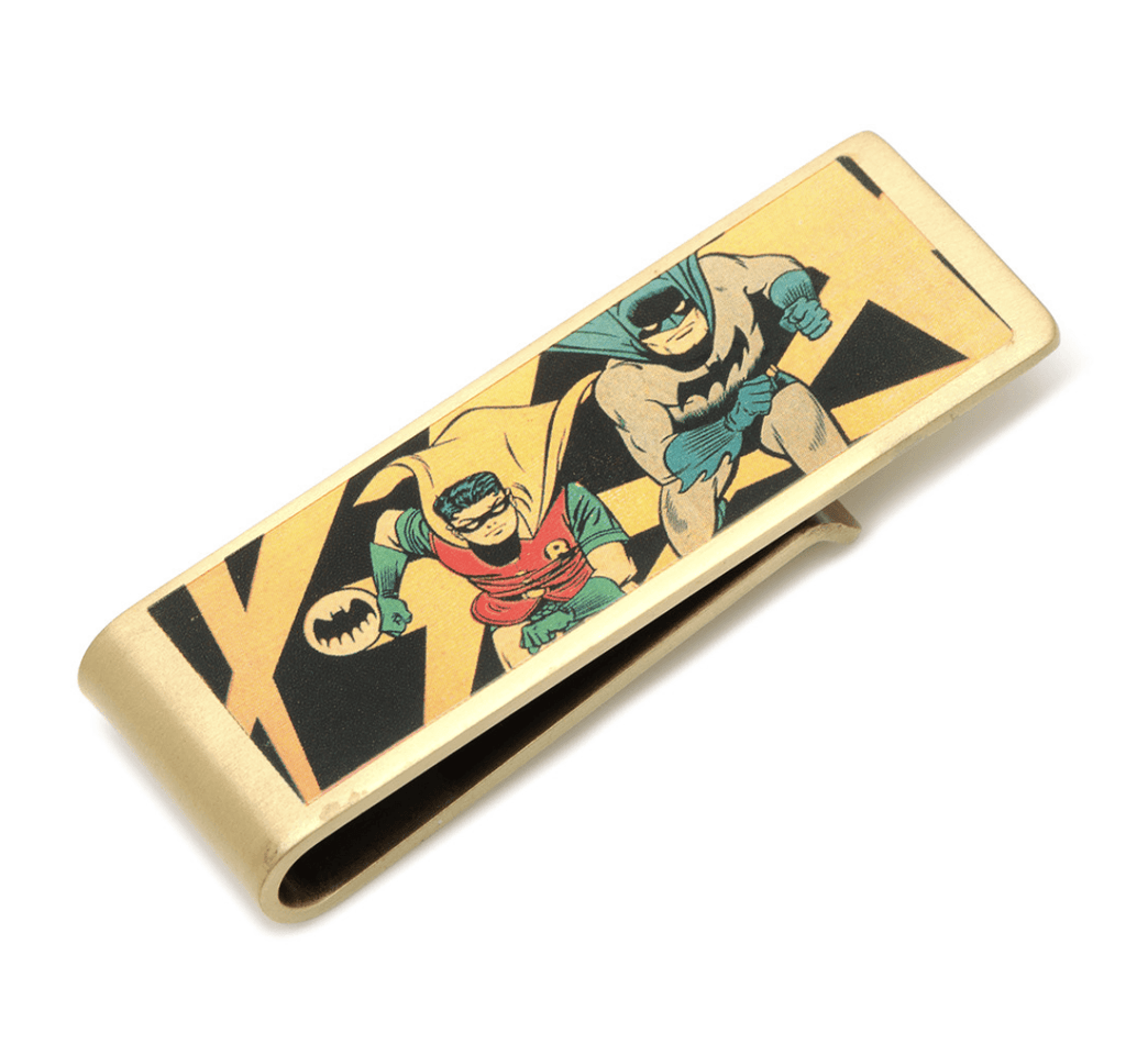 Batman and Robin Vintage Money Clip BY DC COMICS - Groomsmen Groom Wedding Gift For Him