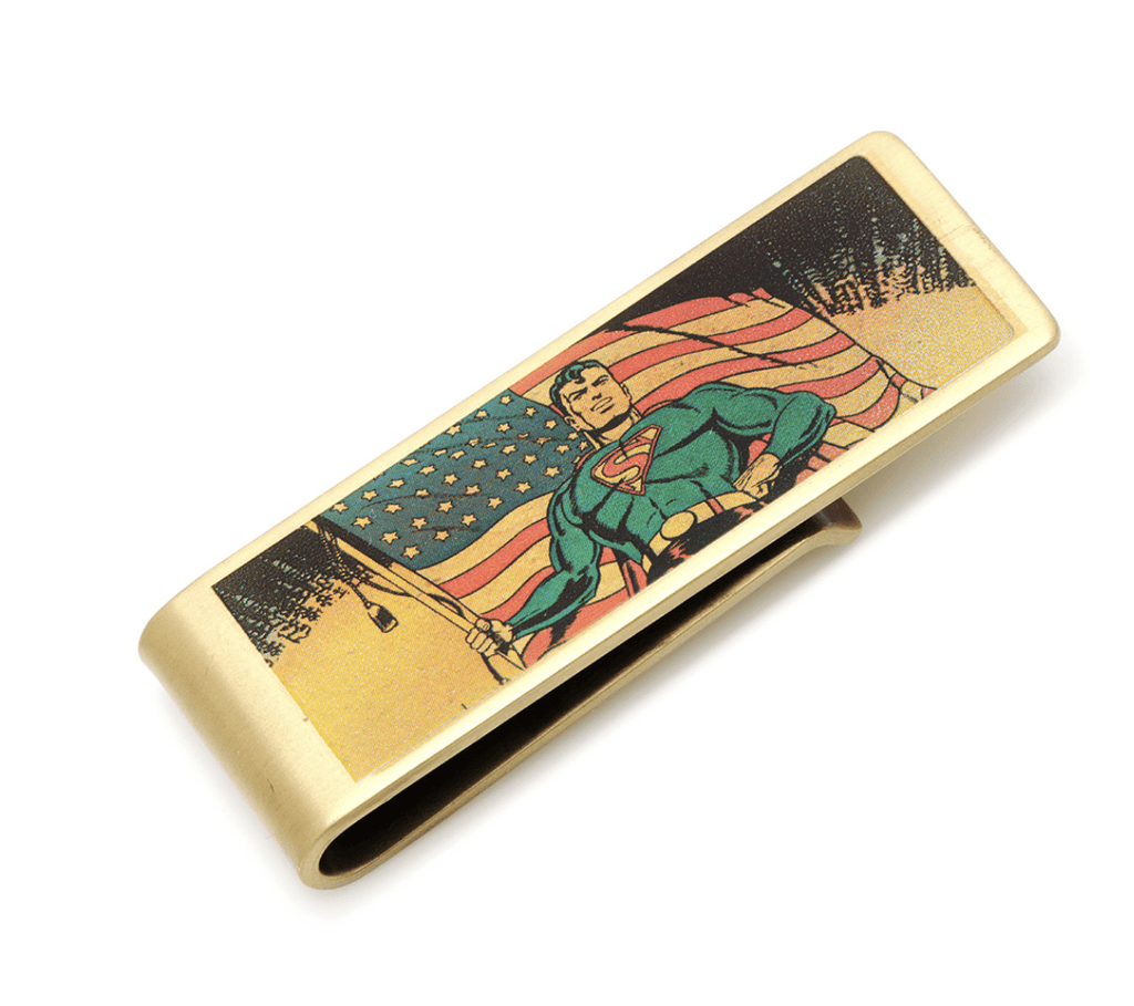Superman Vintage Patriotic Money Clip BY DC COMICS - MarkandMetal.com