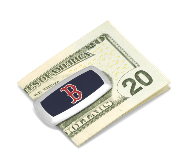 Boston Red Sox Cushion Money Clip BY MLB - Groomsmen Groom Wedding Gift For Him