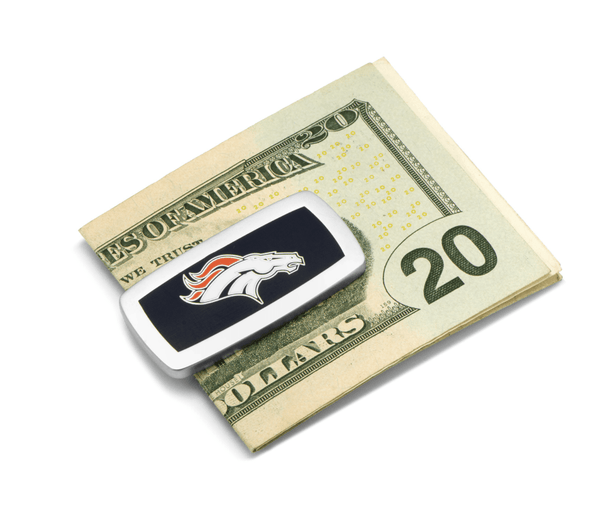 Denver Broncos Cushion Money Clip BY NFL - Men's Accessories and gifts for him
