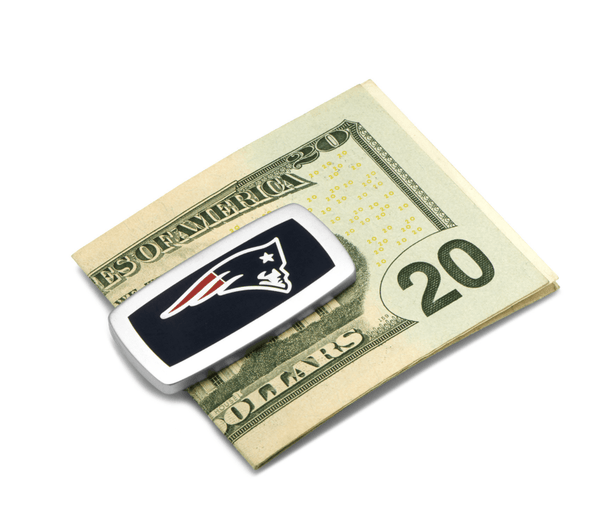 New England Patriots Cushion Money Clip BY NFL - MarkandMetal.com