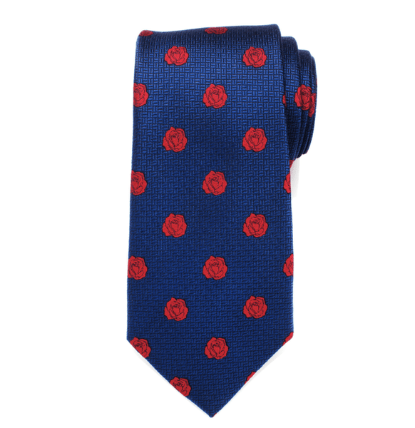 Beauty and the Beast Blue and Red Rose Men's Tie BY DISNEY - Men's Accessories and gifts for him