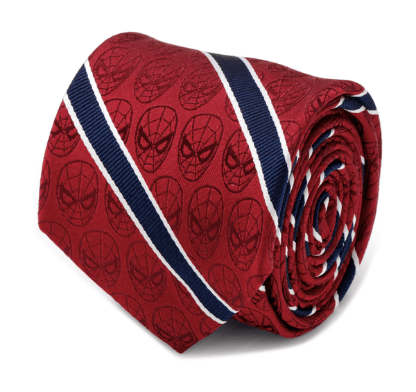 Spider-Man Red and Navy Stripe Men's Tie BY MARVEL - MarkandMetal.com