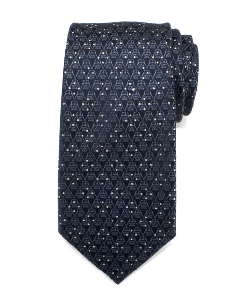 Darth Vader Navy Diamond Dot Men's Tie BY STAR WARS - Groomsmen Groom Wedding Gift For Him