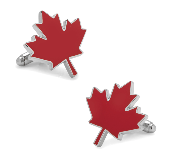Canada Maple Leaf Cufflinks - MarkandMetal.com