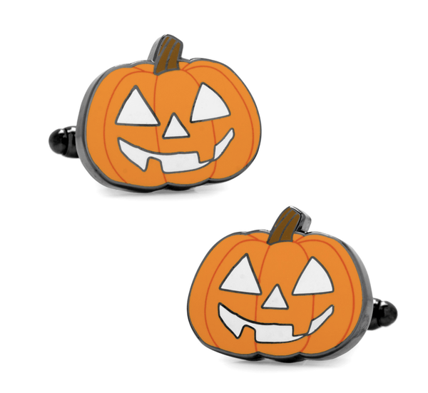 Halloween Jack-O-Lantern Pumpkins Holiday Cufflinks - MarkandMetal.com