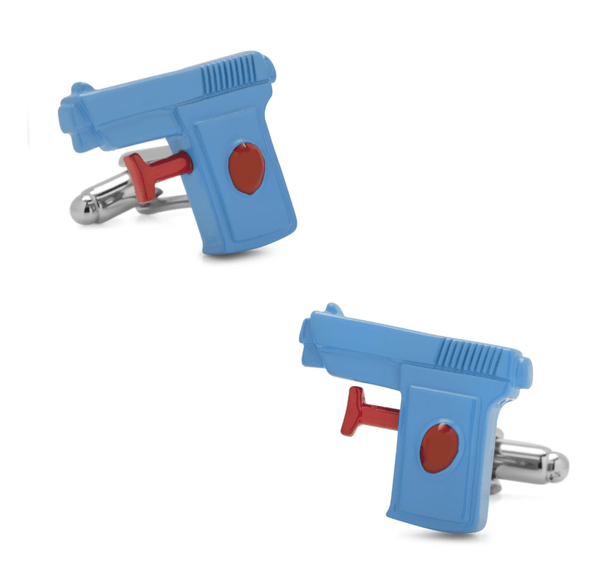3D Water Gun (Watergun) Cufflinks - MarkandMetal.com