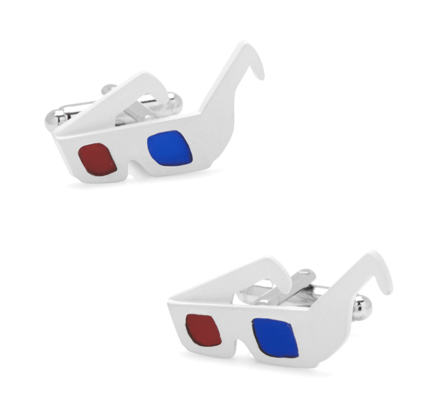 3D Glasses Cufflinks - MarkandMetal.com