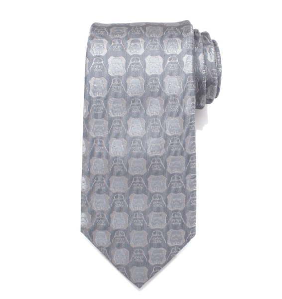 Darth Vader and Stormtrooper Grey Men's Tie BY STAR WARS - Groomsmen Groom Wedding Gift For Him