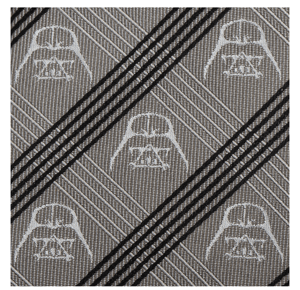 Darth Vader Gray Plaid Tie BY STAR WARS - MarkandMetal.com