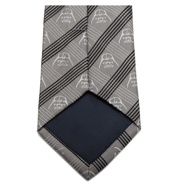 Darth Vader Gray Plaid Tie BY STAR WARS - Groomsmen Groom Wedding Gift For Him