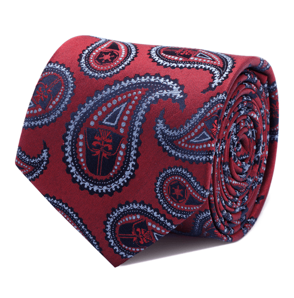 Darth Vader Red Paisley Tie BY STAR WARS - Groomsmen Groom Wedding Gift For Him