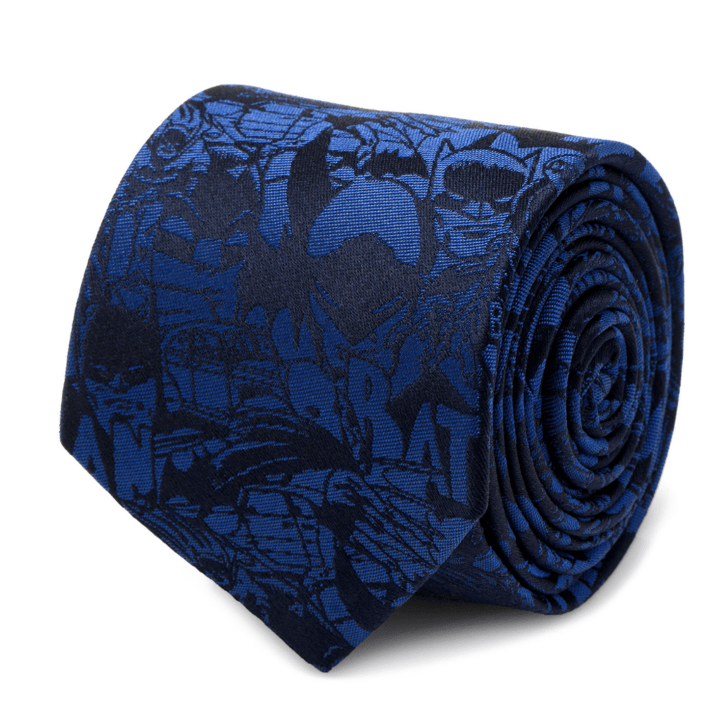 Blue Batman Comic Tie BY DC COMICS - MarkandMetal.com